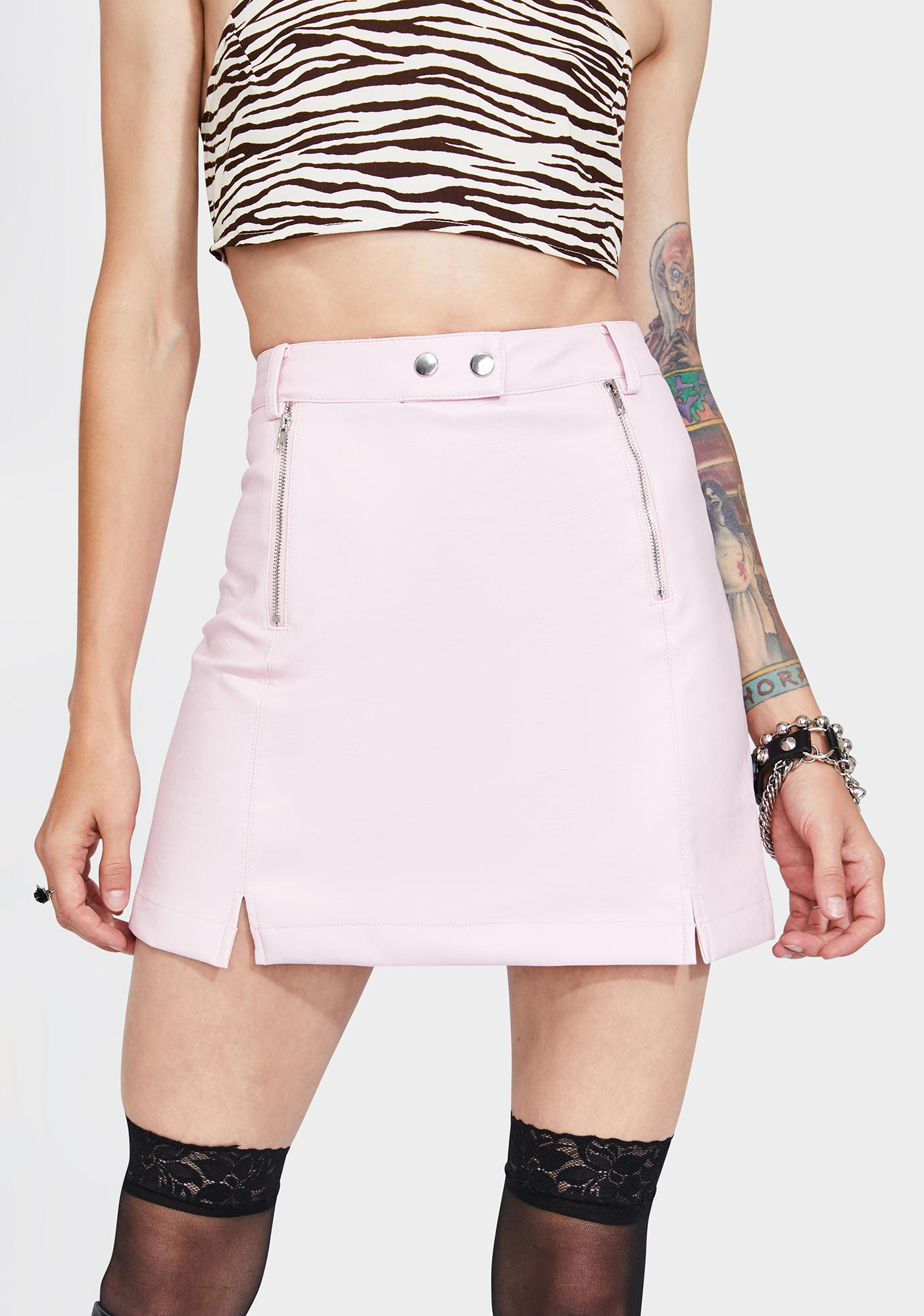 4SI3NNA Pink Royce Mini Skirt