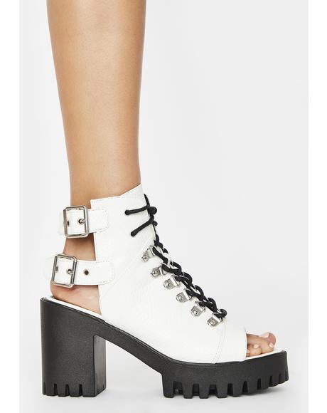 Rockin' Peep Toe Ankle Boots