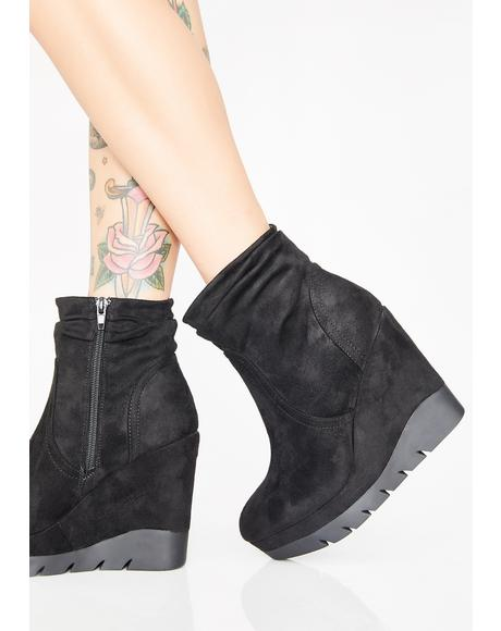 Bass Heavy Wedge Booties