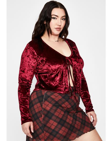 Hot Crush On Me Velvet Top