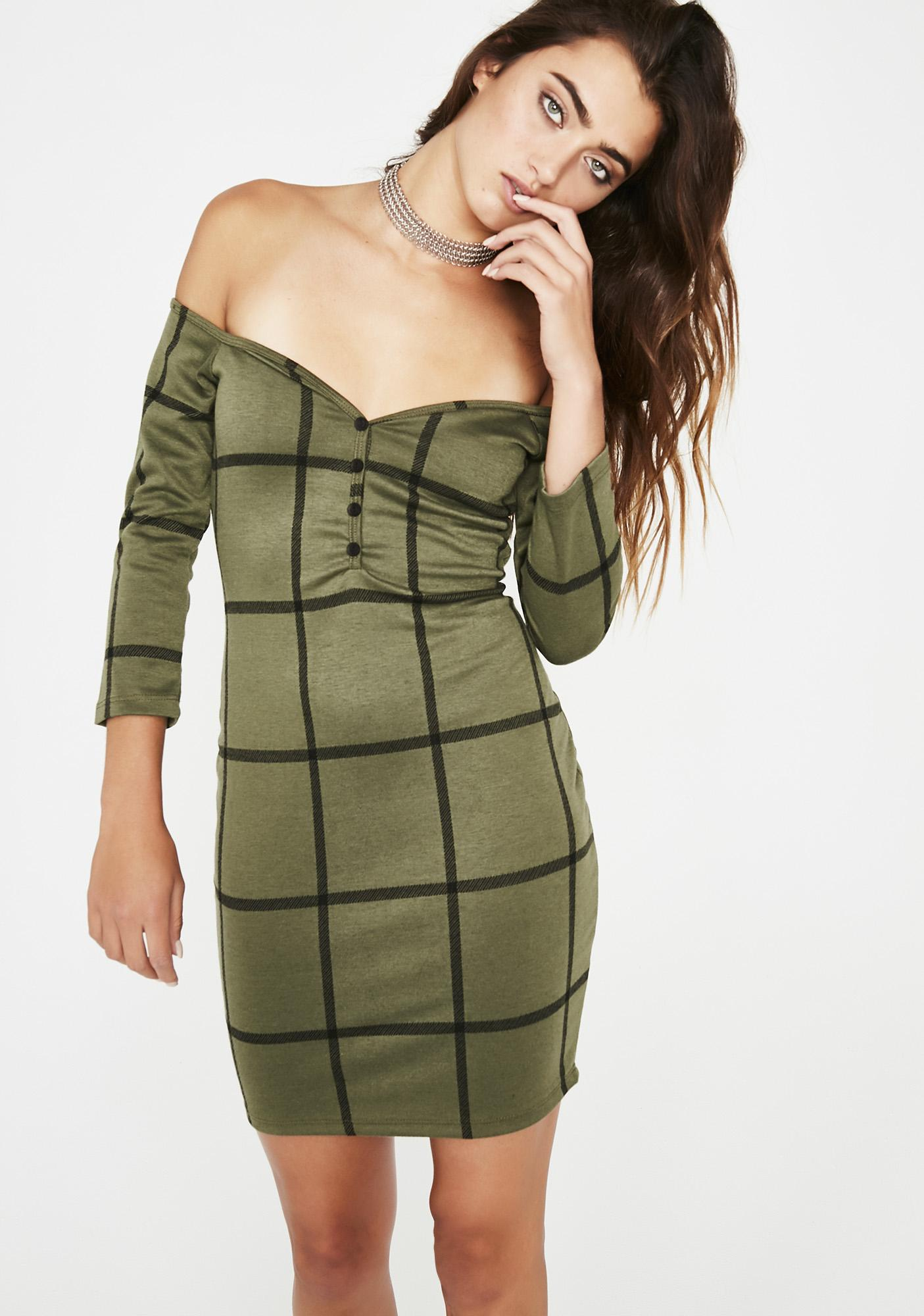 Fine Line Mini Dress