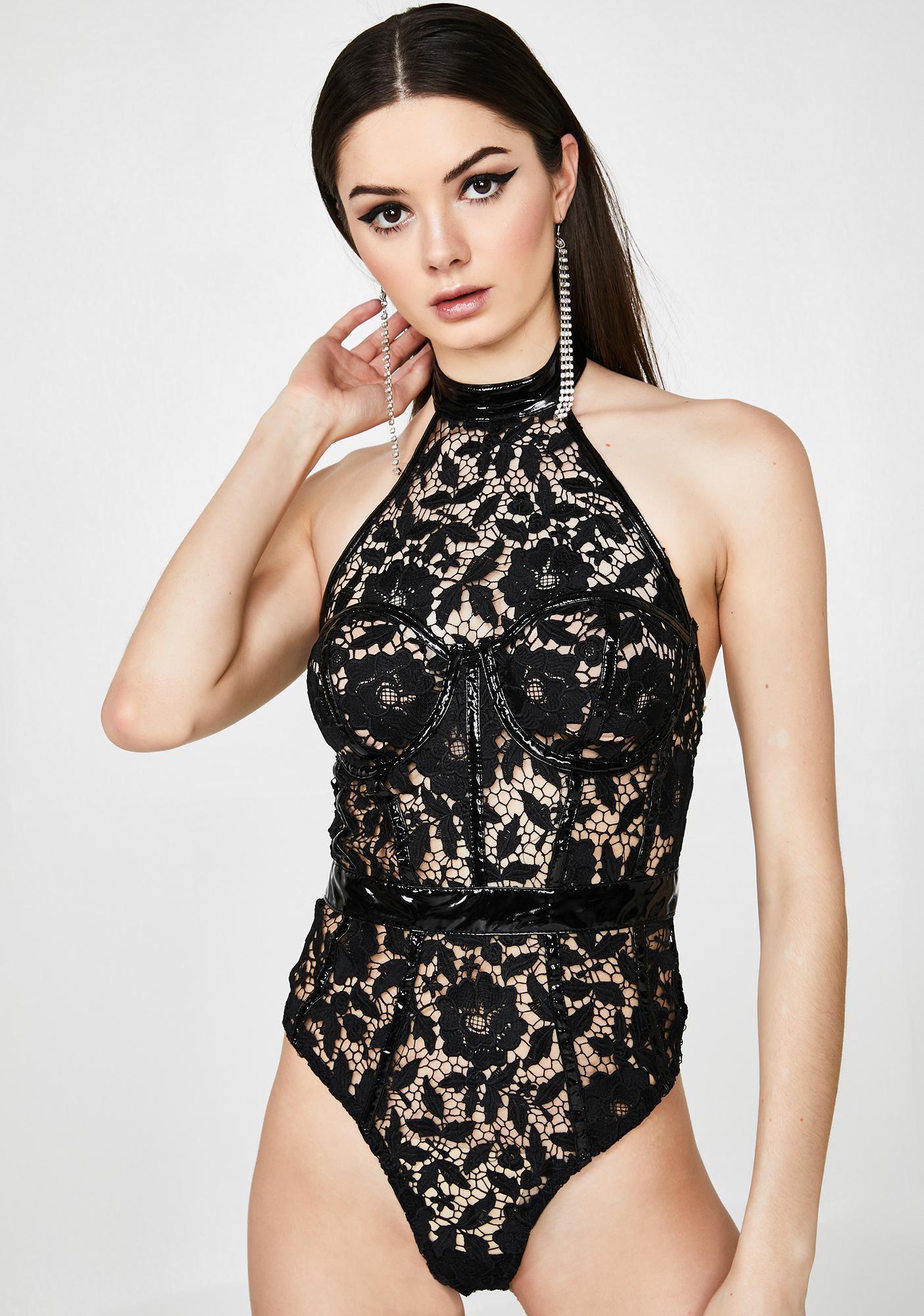 Moonlit Seduction Bustier Bodysuit