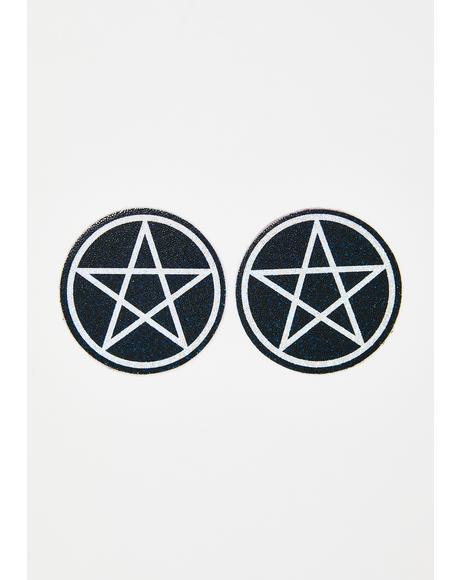 Glitter Pentagram Pasties