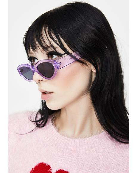 Purple Caution Sunglasses