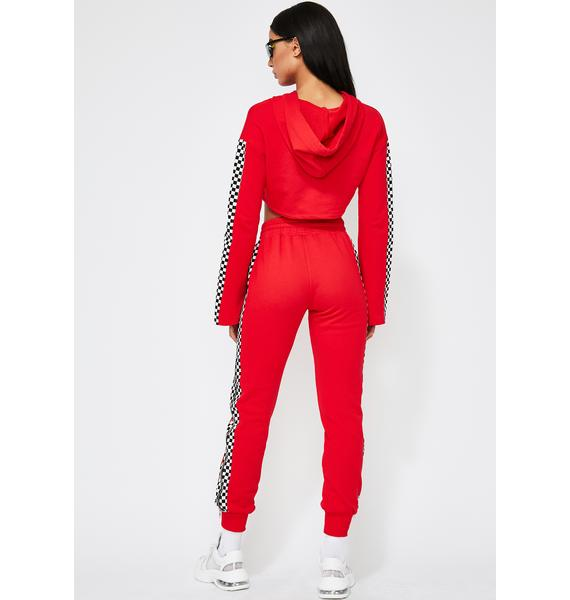 Fast Lane Checkered Joggers