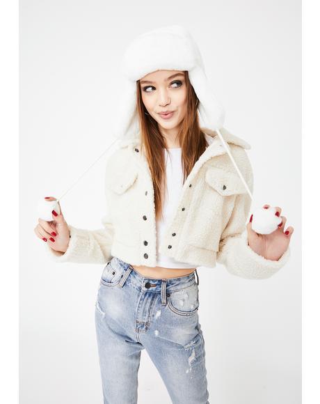 Icy Drama Control Trapper Hat