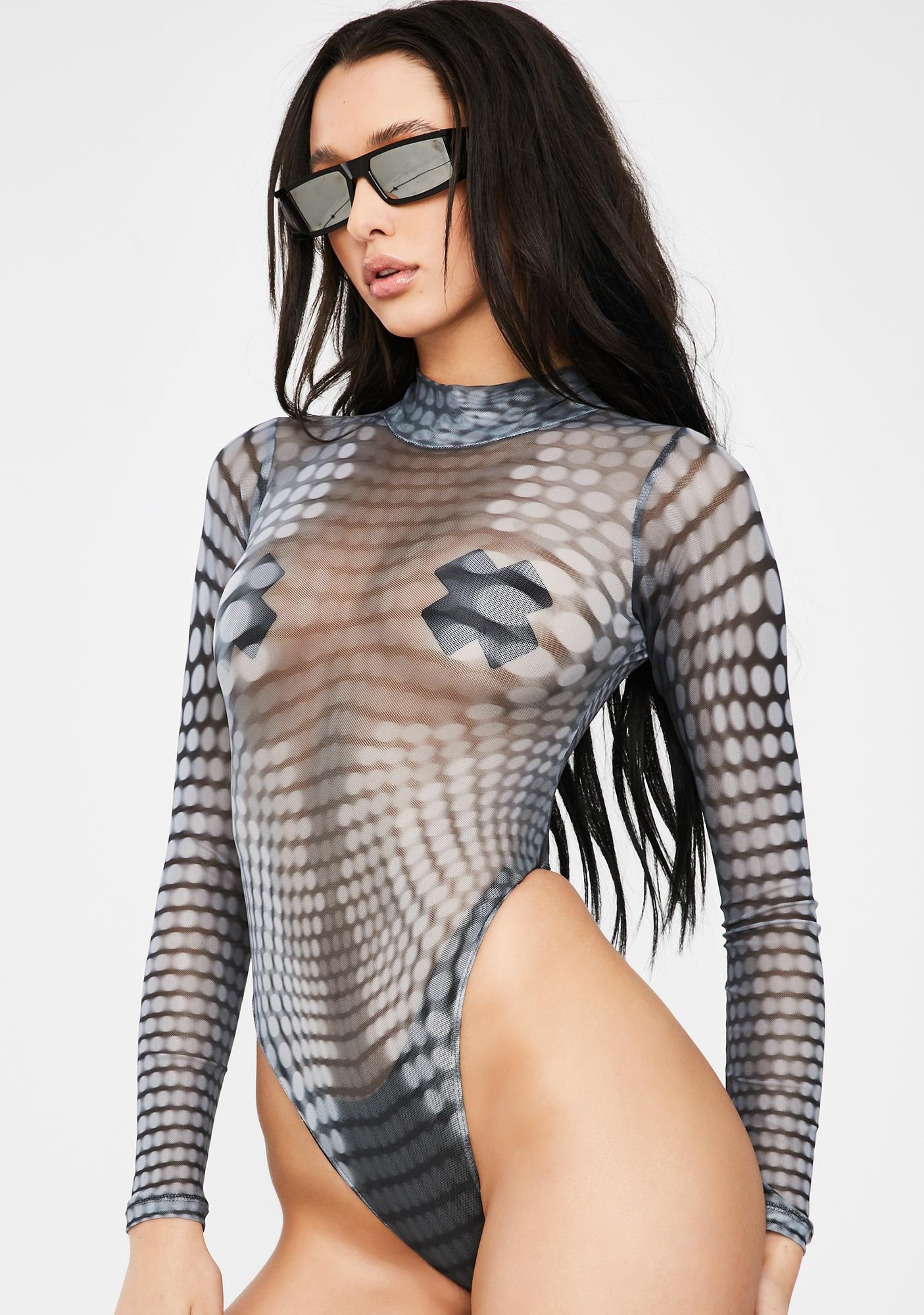 Poster Grl New Money Mesh Bodysuit