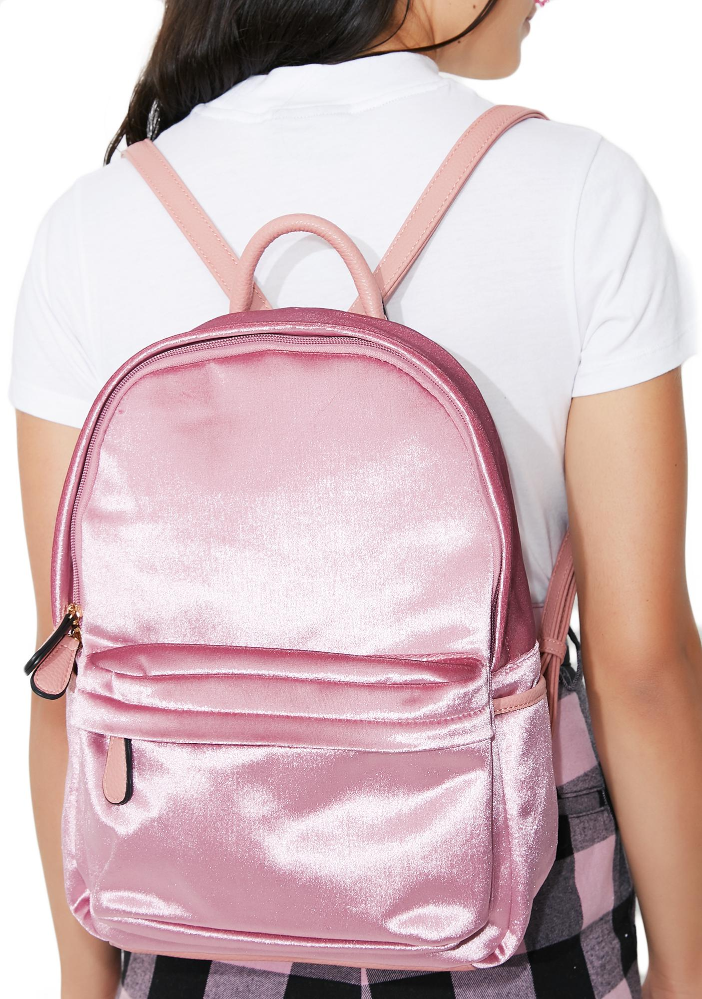 Smooth Move Velvet Backpack
