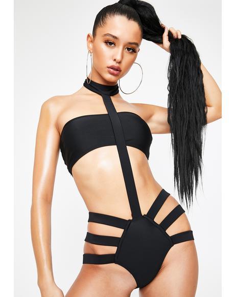Hot In Hurrr Harness Bikini Set