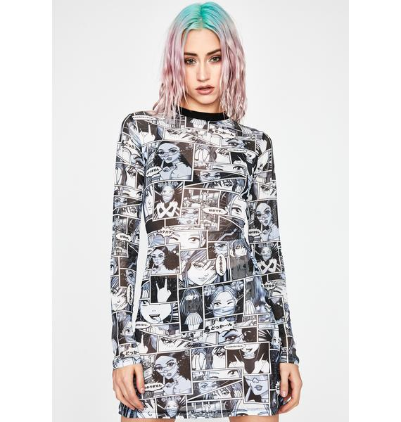 Current Mood Misfit Memoirs Mesh Dress