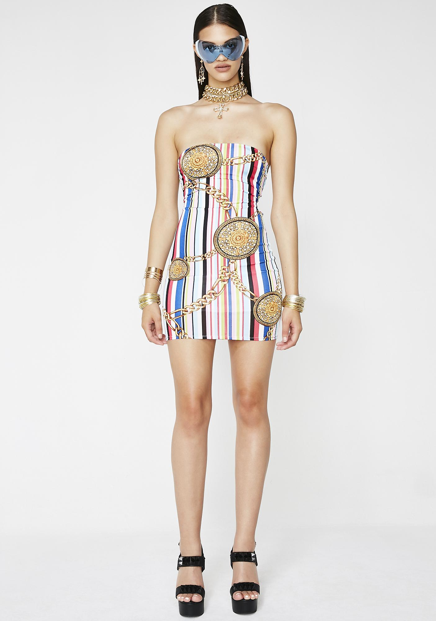 Rich At Heart Striped Dress