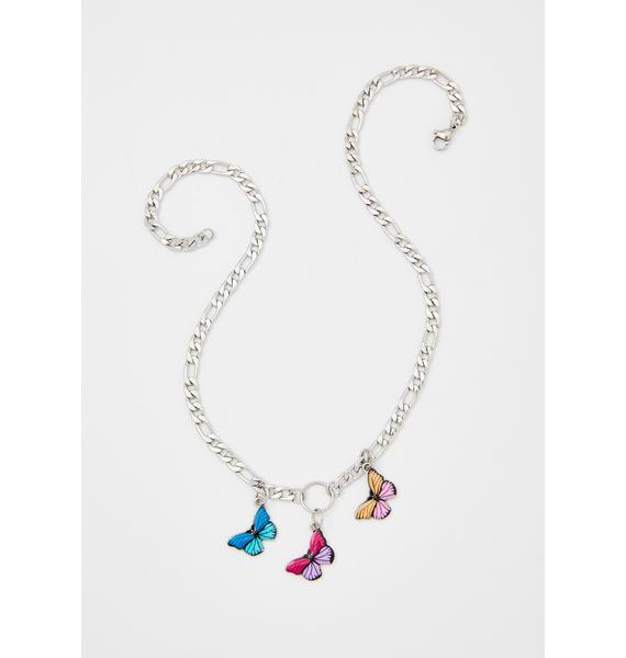 Multi Monarch Chain Necklace