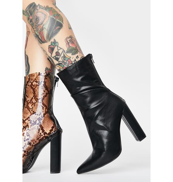 Cross The Line Snake Boots