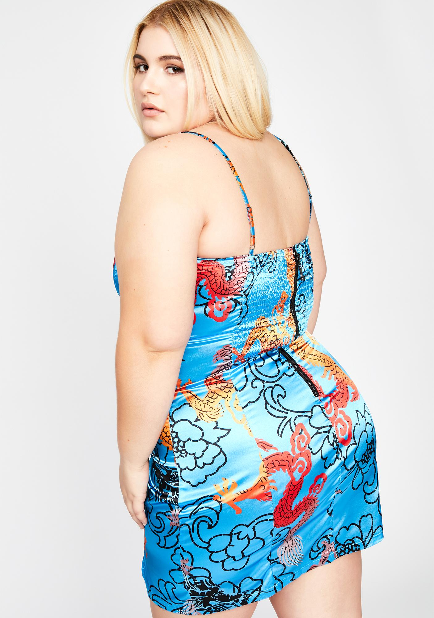 Azure Lux Phoenix Inferno Mini Dress