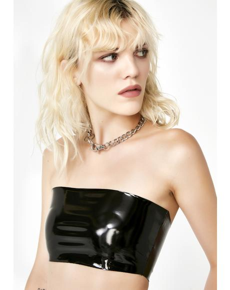 Wicked Byte Me Vinyl Tube Top
