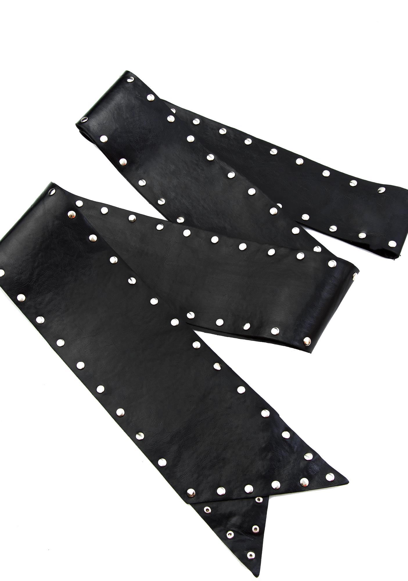 Midnight Sharp Shooter Studded Waist Belt