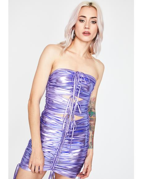 Play It Again Metallic Dress