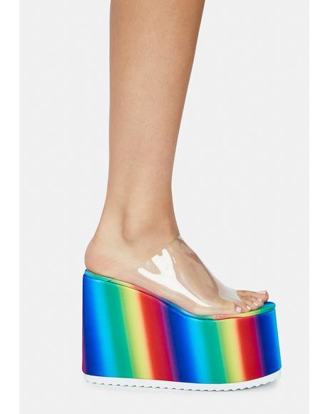 Fly Platform Sandals