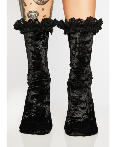 Marissa Velvet Socks