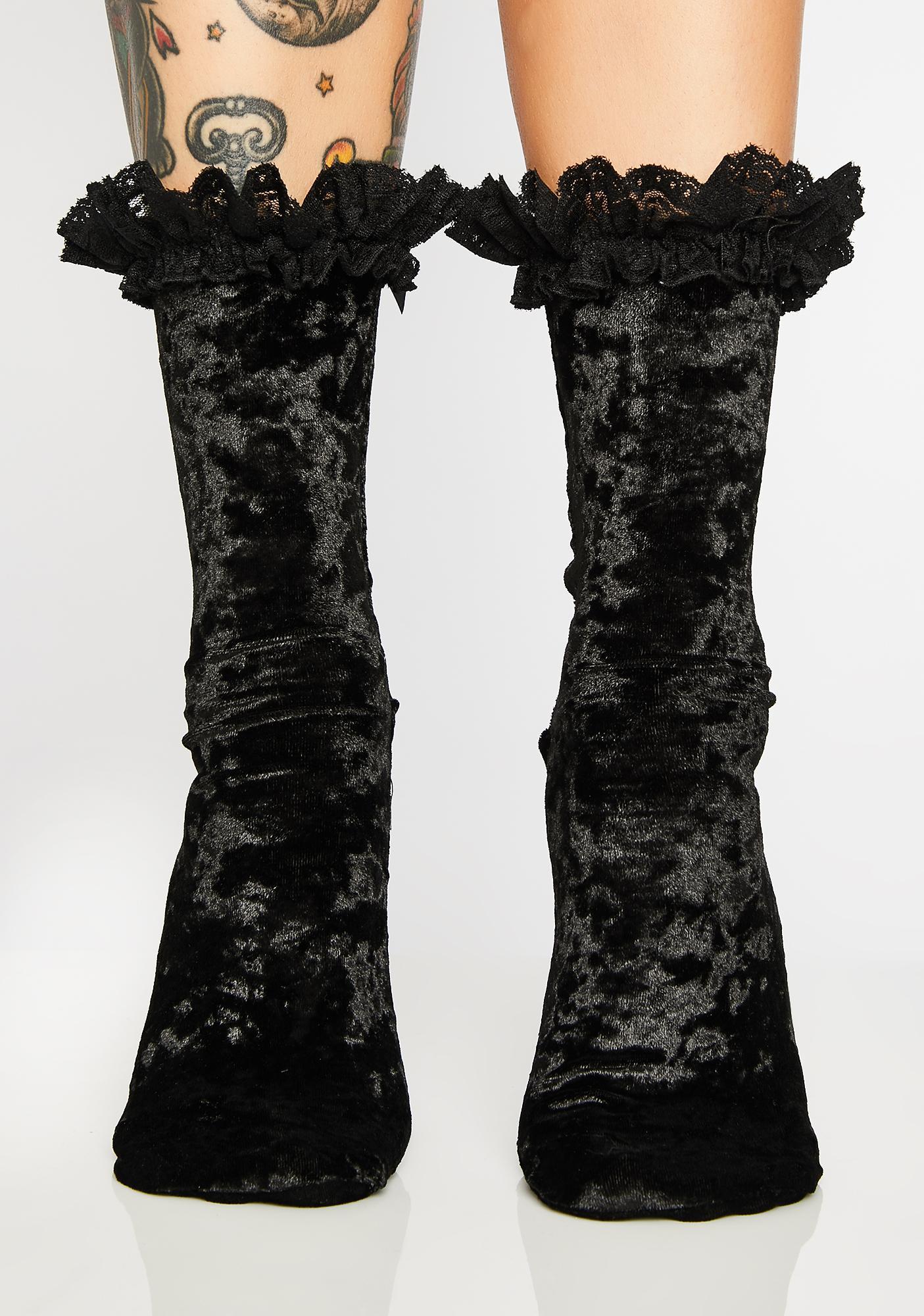 Killstar Marissa Velvet Socks