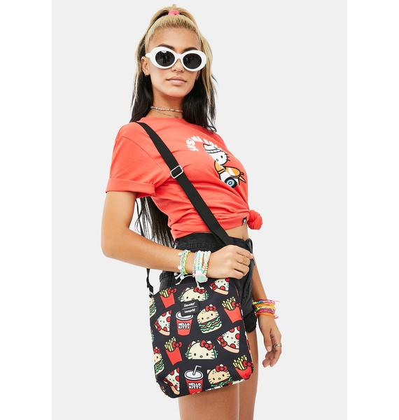 Loungefly Hello Kitty Snacks AOP Passport Bag