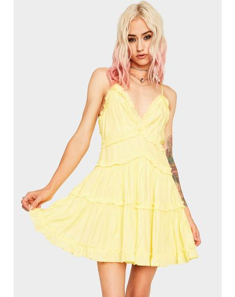 Daffodil Ruffle Me Up Mini Dress