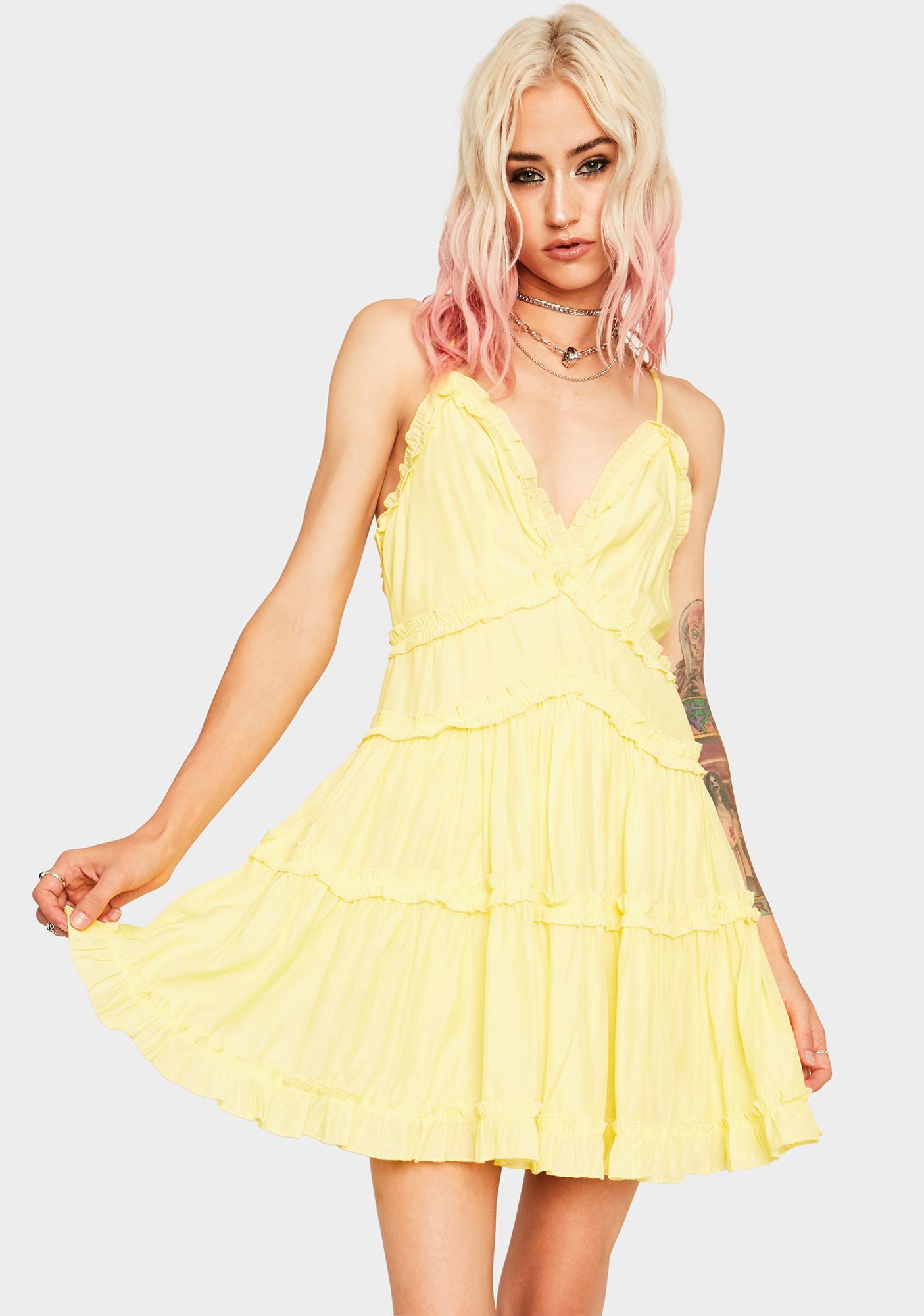 Daffodil Ruffle Me Up Mini Dress