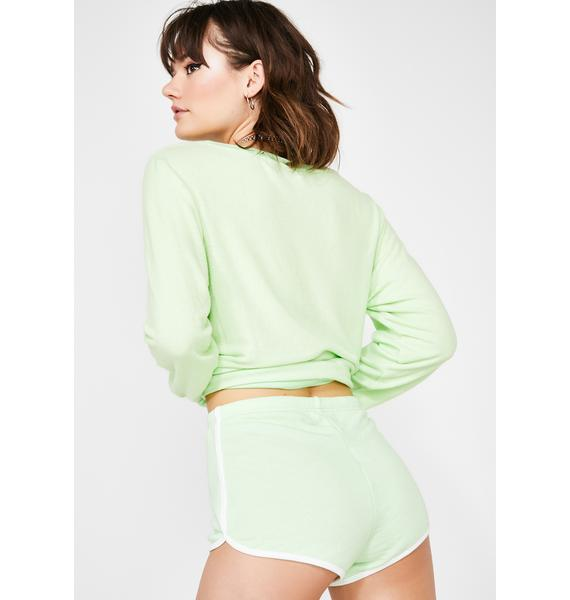 Wildfox Couture Soft Lime Pool Party Shorts