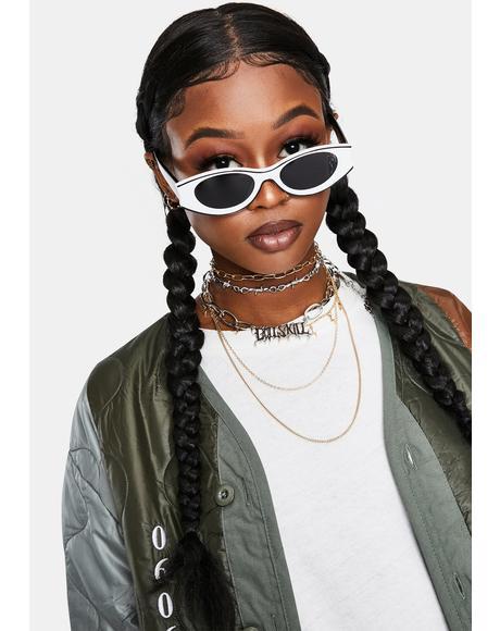 Domino Funk With My Heart Retro Sunglasses