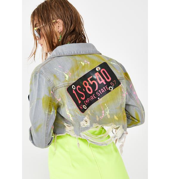Kiki Riki Licensed Trouble Denim Jacket