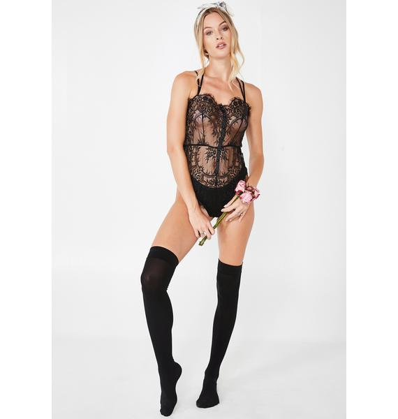 Lick My Persuasion Lace Teddy