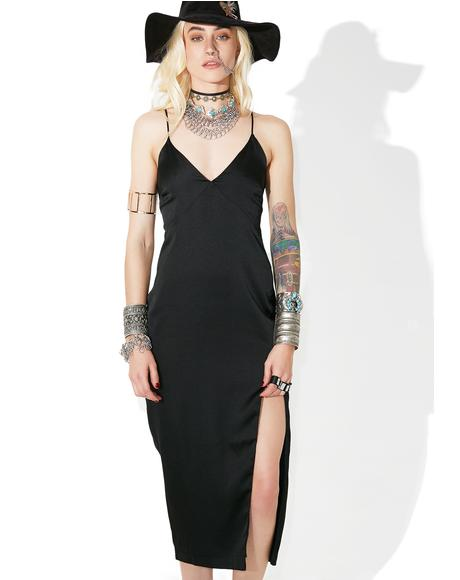 Abilene Satin Slip Dress