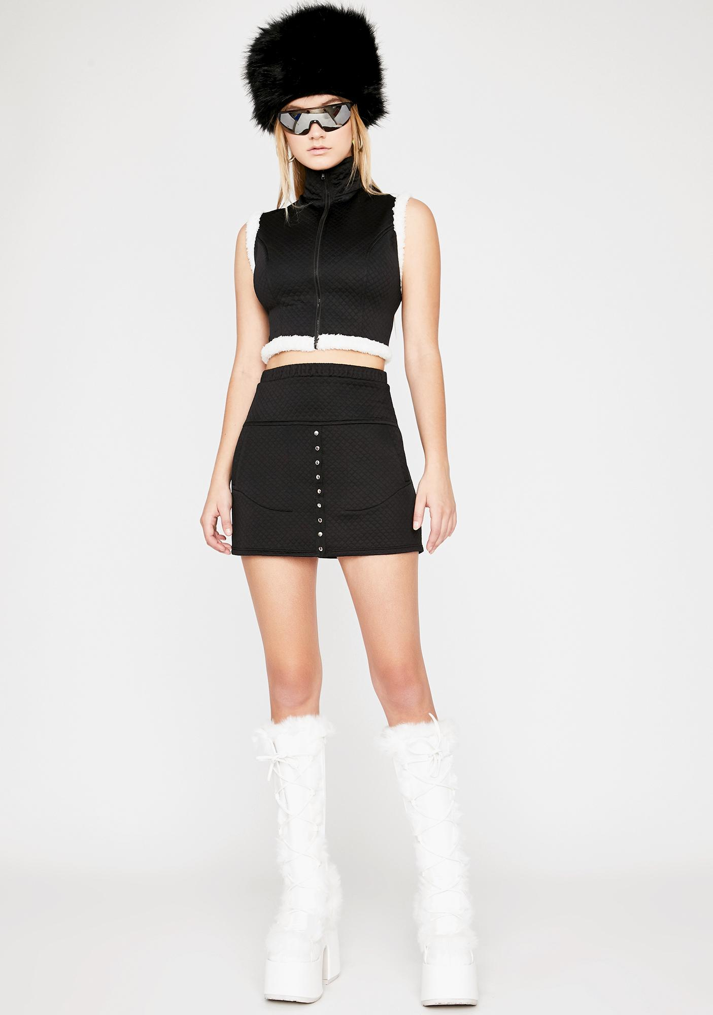 Night Gotta Bounce Quilted Skirt