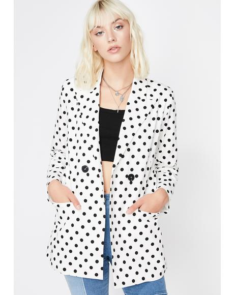 No Press Polka Dot Blazer