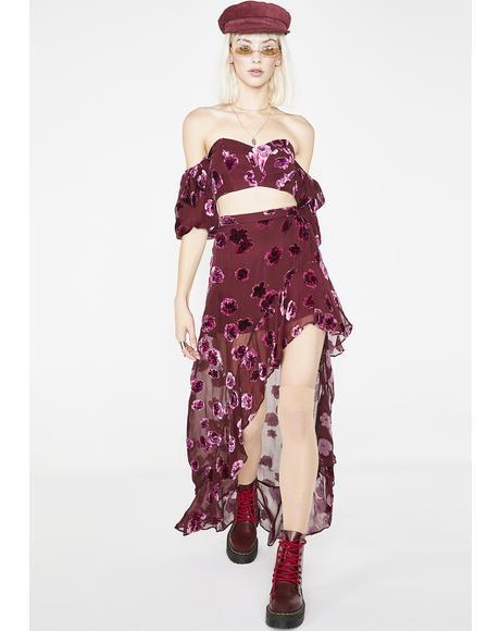 Sophie Velvet Floral Skirt