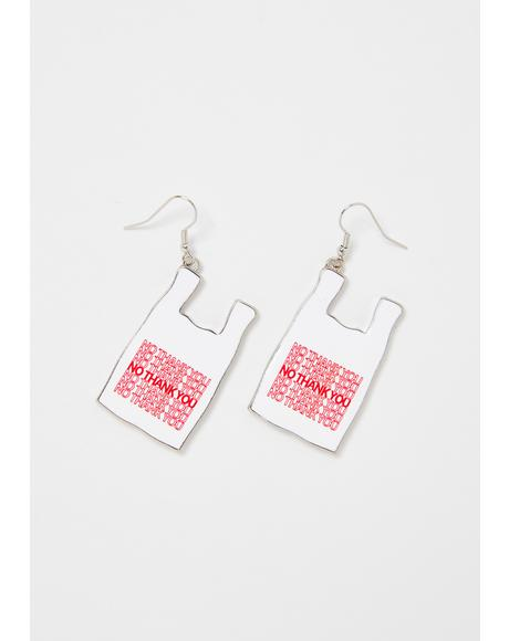 Don't Come Again Bag Earrings