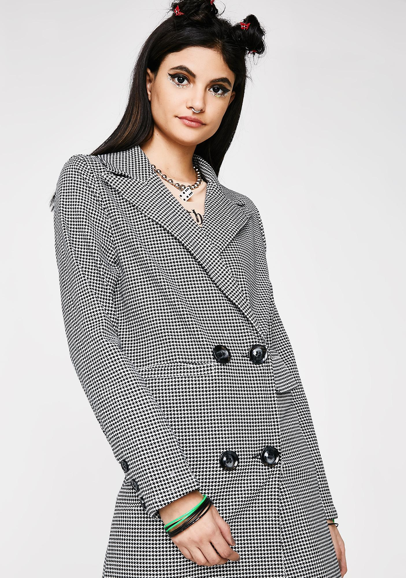 Work Wife Houndstooth Jacket