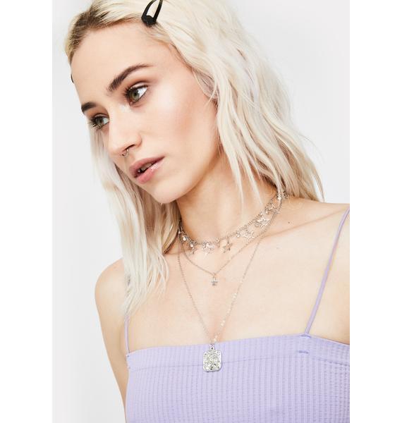Wishing Stars Layered Chain Necklace