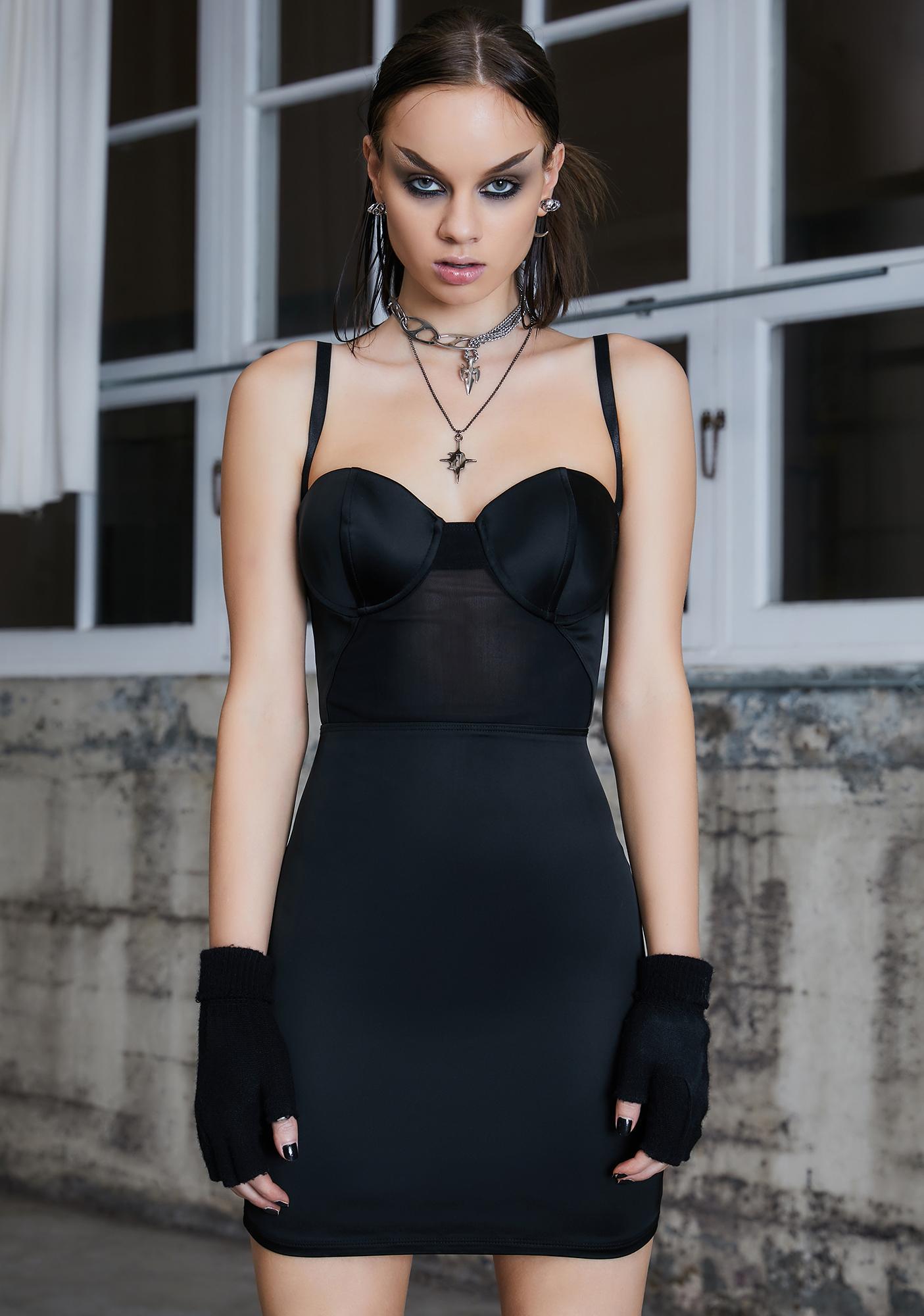 DARKER WAVS Kickdrum Underwire Mini Dress