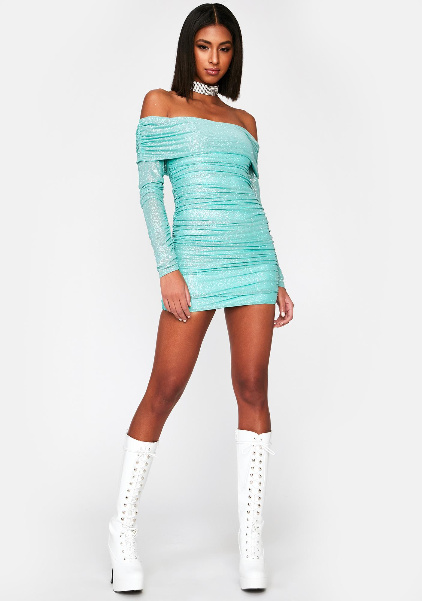 Can't Touch This Ruched Dress