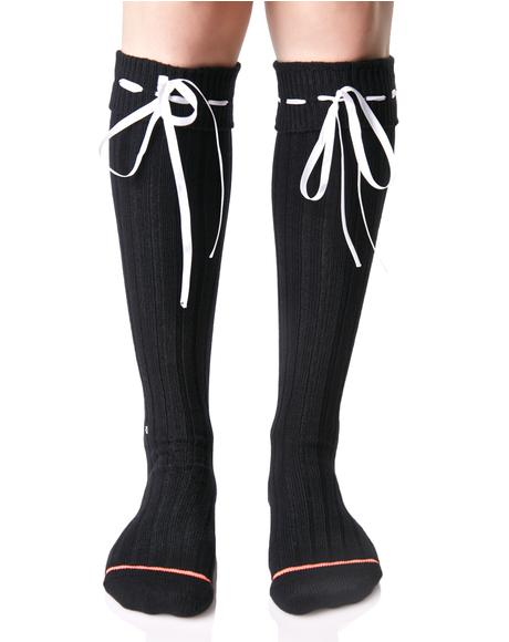 Dark Dolores Knee High Socks