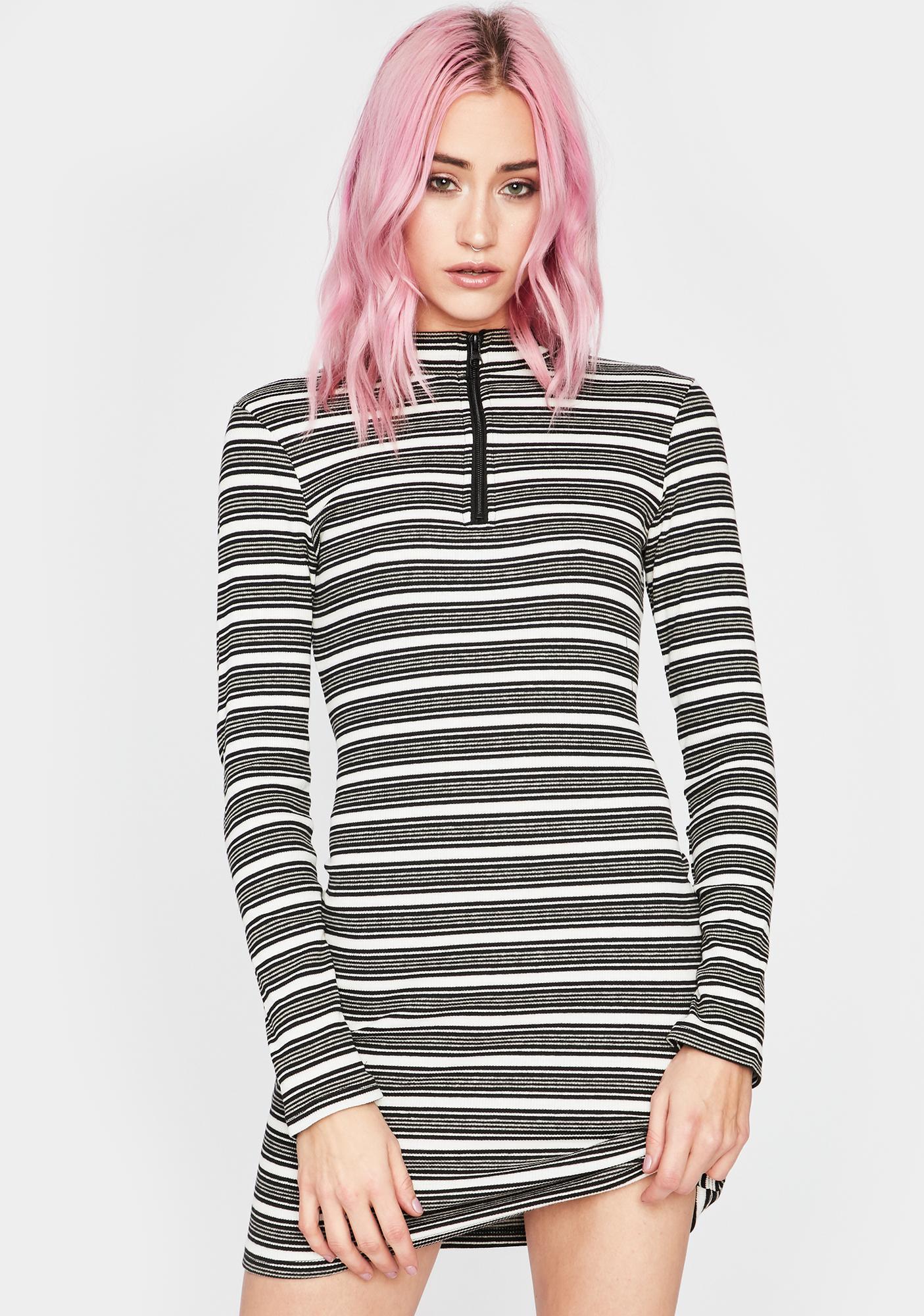Noir Cant Stop Me Striped Mini Dress