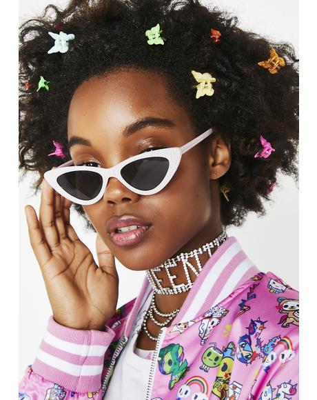 Cool Gal Rhinestone Sunglasses