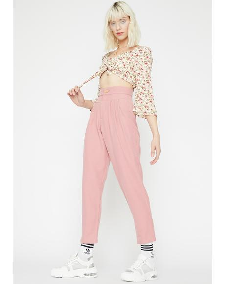 Petal Pusher Pleated Trousers