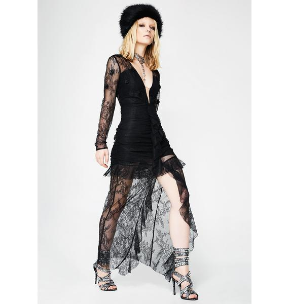 For Love & Lemons Daisy Lace Midi Dress