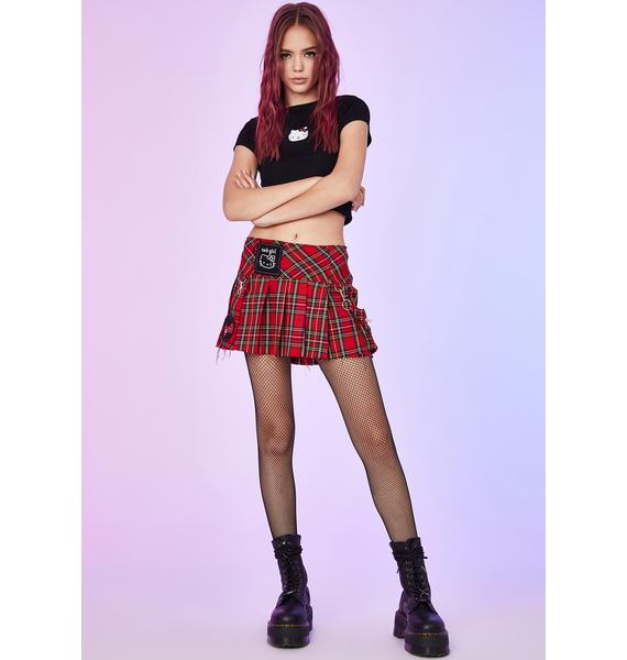 Dolls Kill x Hello Kitty Perfect Nightmare Plaid Skirt