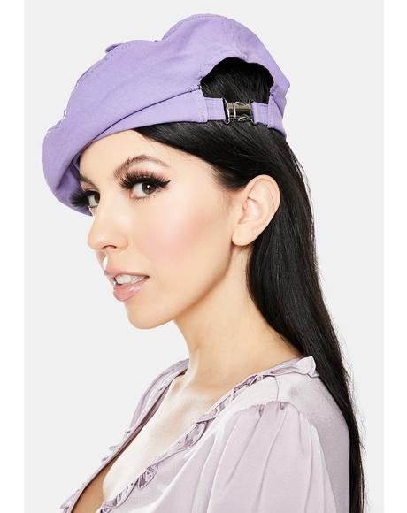 Lilac Watch Me Ruffle Beret