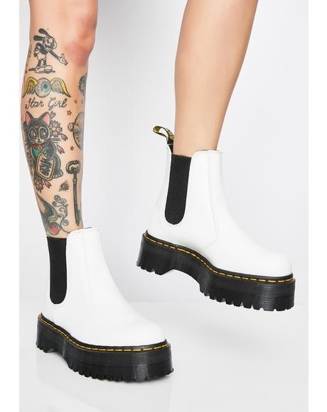 2976 White Chelsea Quad Boots