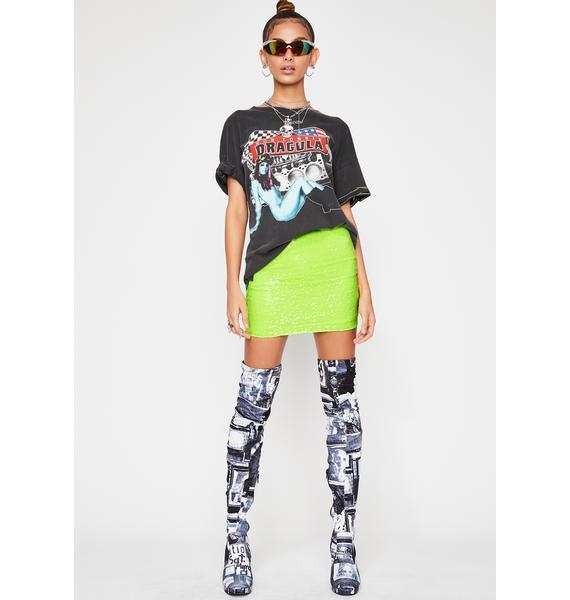 Slime Blast In A Glass Sequin Skirt