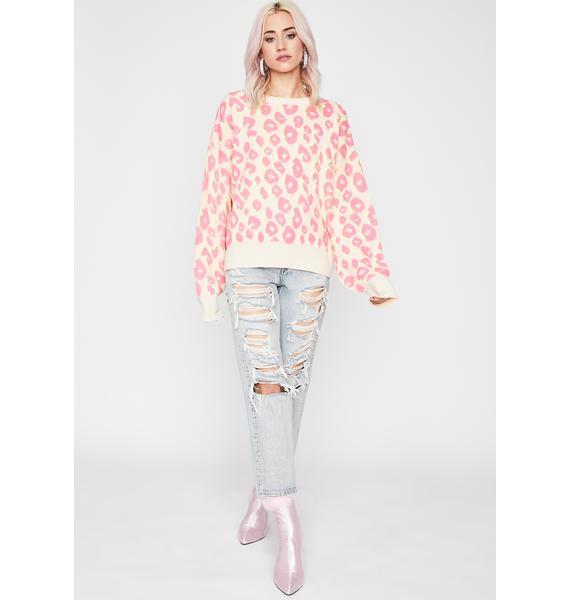 Feral Delight Leopard Sweater